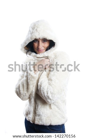 woman with winter jacket
