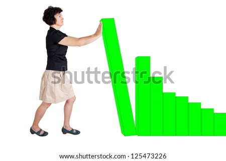 Woman working on chart