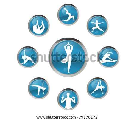 womans practice yoga - stock photo