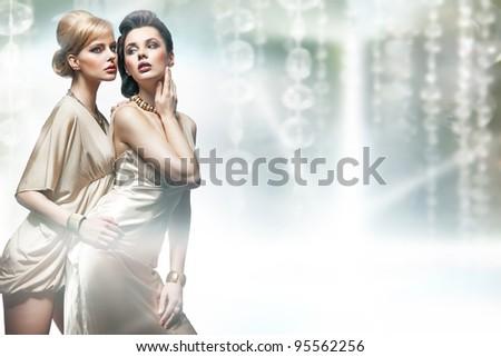 Women and diamonds - stock photo
