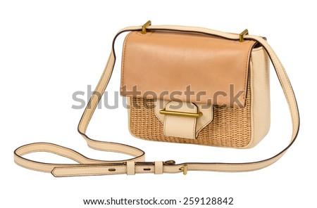 women bag isolated on white background - stock photo