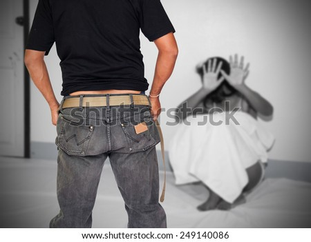 women being raped and abused with terror sexual - stock photo