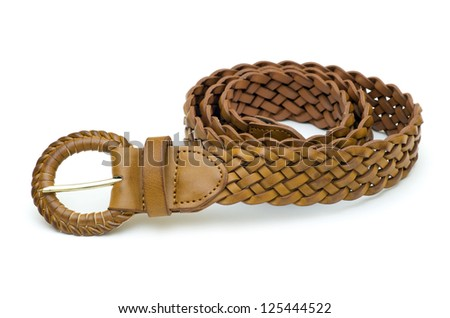women belts on a white background - stock photo