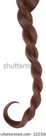 Women braid on a white background. - stock photo