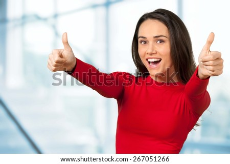 Women, Cheerful, Happiness. - stock photo