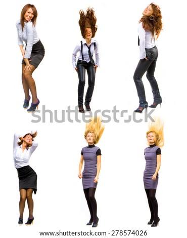 Women Diversity Isolated over White  - stock photo
