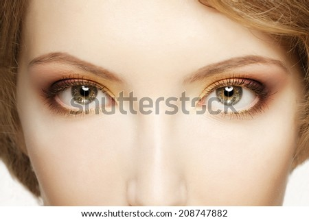 Women eyes close up - stock photo