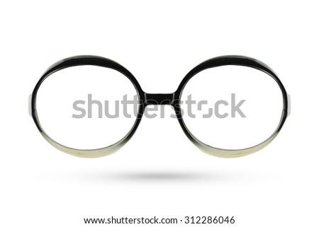 Women eyes masquerade fashion glasses style isolated on white background. - stock photo