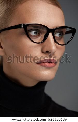 fashion optical frames 19vv  Women Fashion Glasses Attractive Female In Black Cat Eye Design Optical  Frame, Eyewear