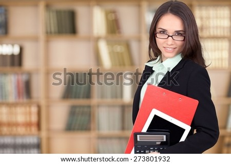 Women, Greeting, Real Estate Agent. - stock photo
