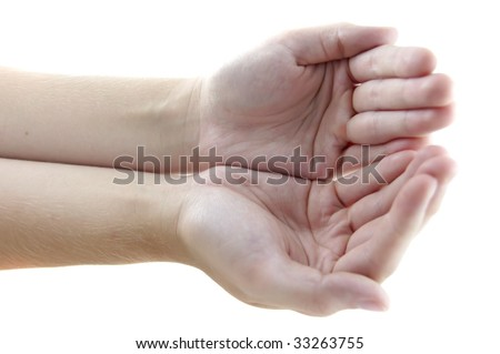 Women hand - stock photo