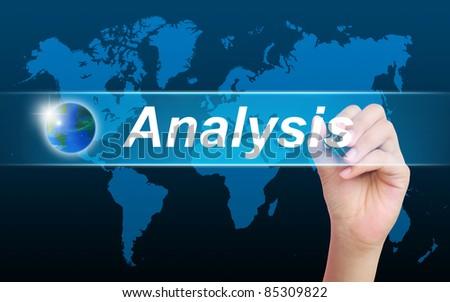 women hand writing analysis - stock photo