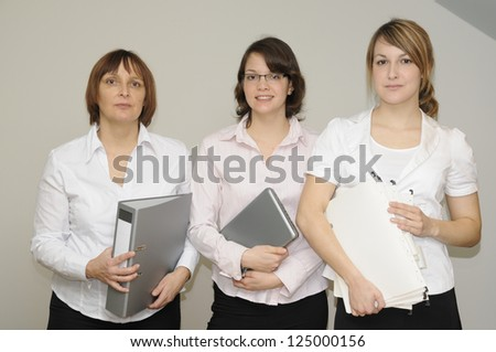 Women in an office - stock photo