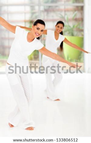 women in fitness dance class - stock photo