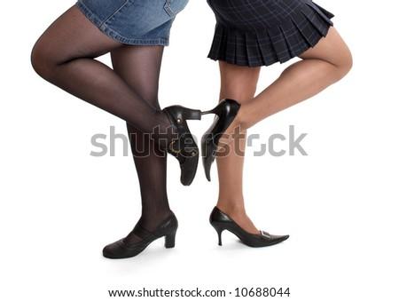 women in stiletto shoes - stock photo