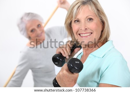 Women in the gym - stock photo