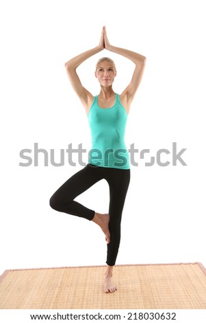 women in yoga  - stock photo