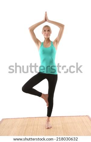 women in yoga  - stock photo