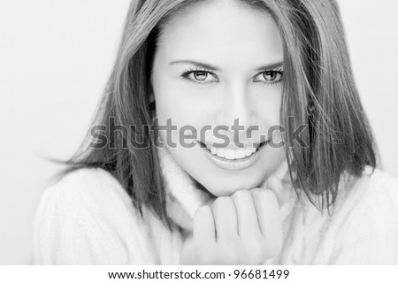 Women portrait. Black And White - stock photo