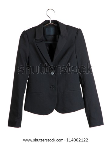 Women's black classic jacket - stock photo