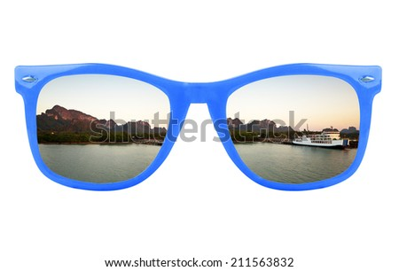 Women's blue sunglasses