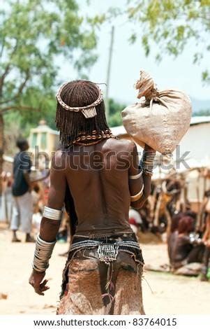 Women's Hammer ethnic market - stock photo