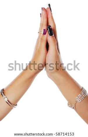 women's hands - stock photo