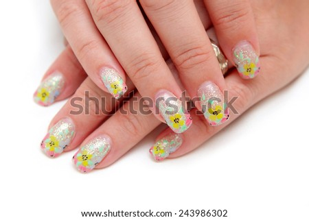 Women's hands with a nice manicure