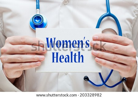 Women's Health concept - stock photo