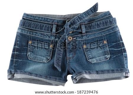 Women's Jeans Shorts - stock photo