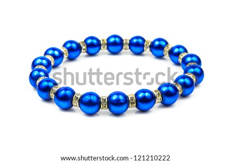 Women's Jewellery. The photo on the white background - stock photo
