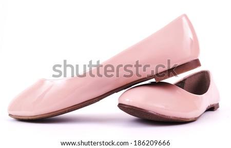 Women's low summer shoes ballerina. - stock photo