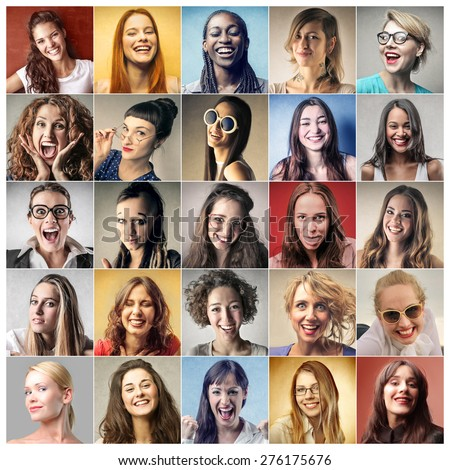 Women's portraits - stock photo