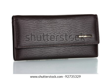 Women's purse isolated on white