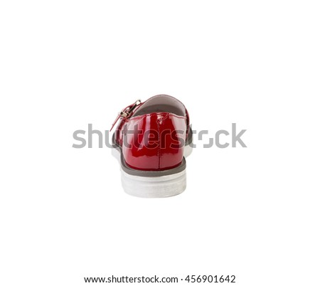 women's red shoes on a white background online sale