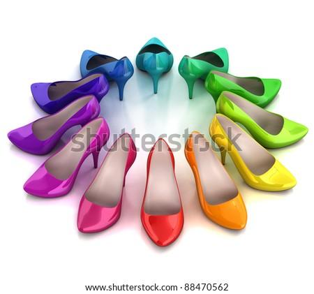 women's shoes 3d illustration - stock photo