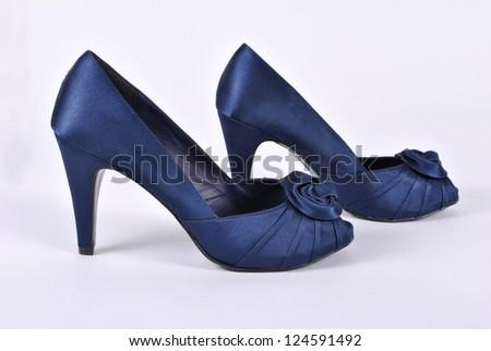 Women's shoes on the heel - stock photo
