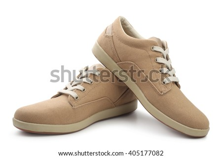 Women's shoes on white background - stock photo