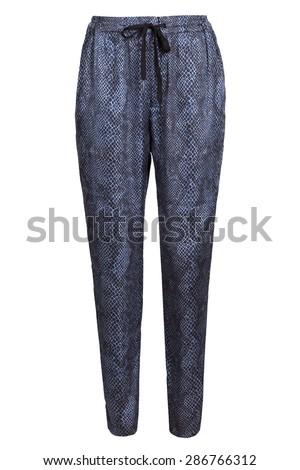 women's sweatpants with snake skin pattern - stock photo