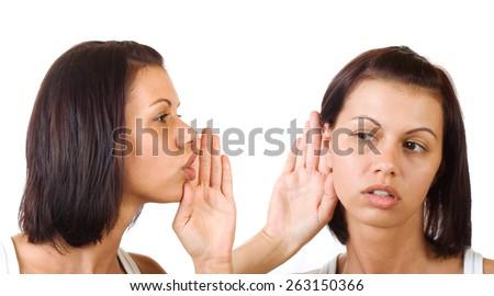 Women said, woman listening - stock photo