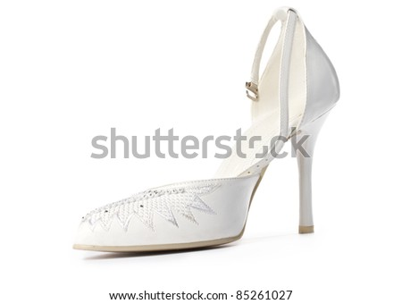 Women shoe isolated on white