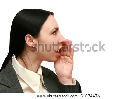 women speaker - stock photo