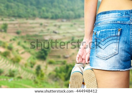women travel, abstract background concept.