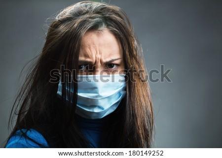 Women weared gauze bandage - stock photo