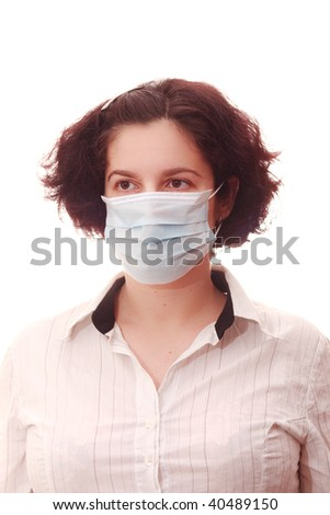 women with medical mask