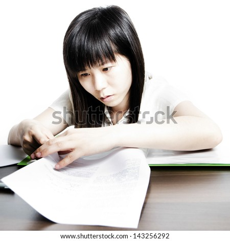 women work with paper documents - stock photo