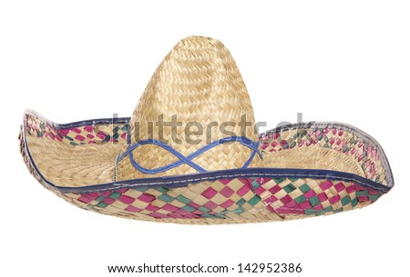 womens sombrero hat studio cutout
