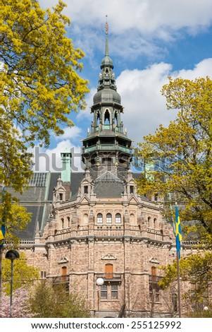 wonderful architecture in Gamla stan, Stockholm. Sweden - stock photo