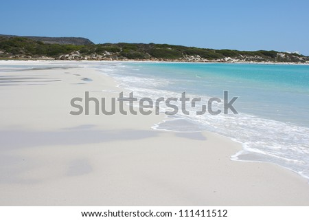 Wonderful beach in south africa - stock photo
