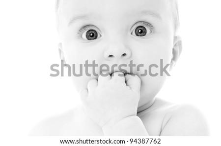 wonderful cute kid - stock photo